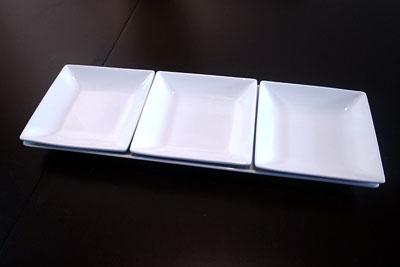 長方形大皿×小正方形3枚