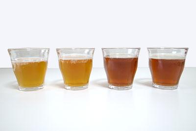 カークランド 4アソートビール 色比較