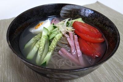 韓国冷麺 出来上がり