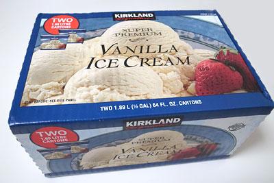 カークランド バニラアイスクリーム