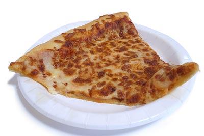 フードコートのチーズピザ