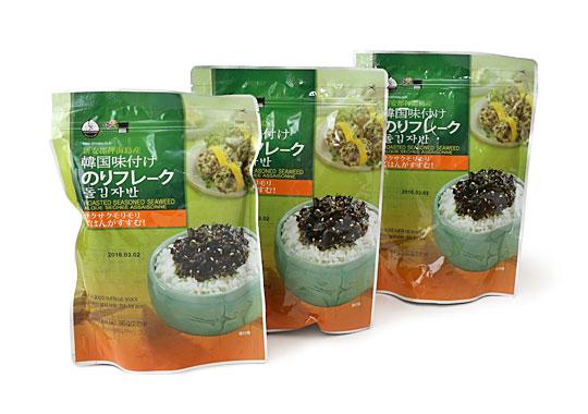 韓国味付けのりフレーク 開封