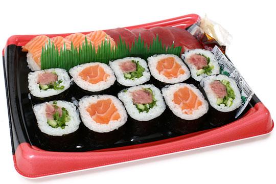 まぐろとサーモン寿司 開封