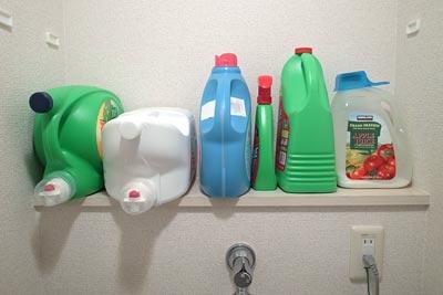 洗濯用洗剤置場