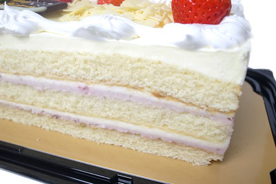 コストコのクリスマスケーキ2012 断面