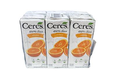 セレス 100%ジュース オレンジ6本
