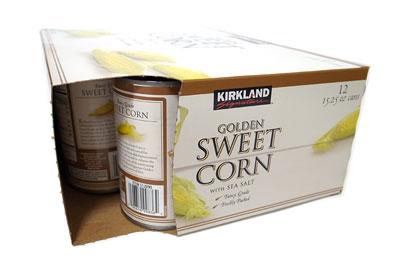 カークランド スイートコーン缶 箱