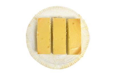 スフレチーズケーキの切り分け方 三等分にカット