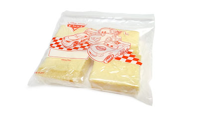 スフレチーズケーキ サンドイッチバッグにぴったり