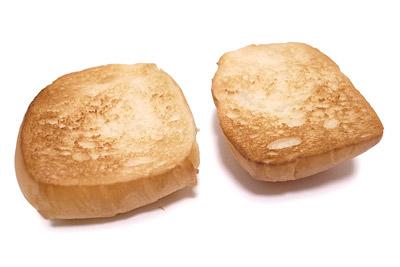 ディナーロールの解凍方法 凍ったままカットしてトースト