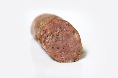 アイデル チキンソーセージ ローストガーリック&グリュイエールチーズ カット断面