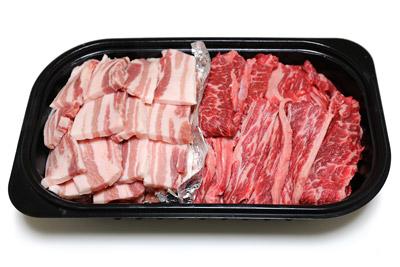 デリカの容器をバーベキューに再利用(お肉)