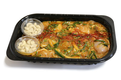 鶏肉カシューナッツ炒め 開封