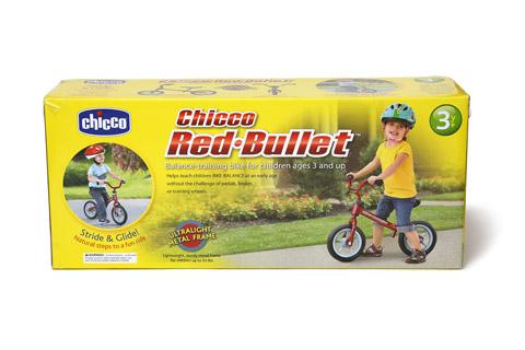 chicco Red-Bullet バランストレーニングバイク 外箱