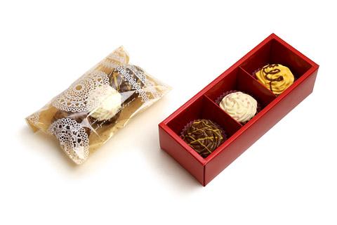 カップケーキチョコレート ラッピング