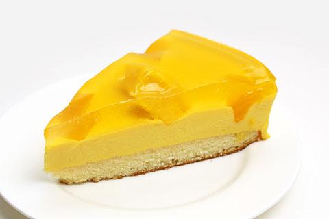 マンゴームースケーキ カットしてみた