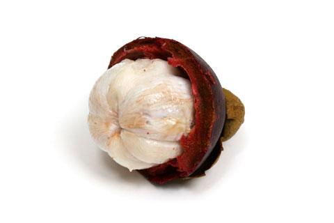 マンゴスチン 皮を剥いた状態 果肉部分