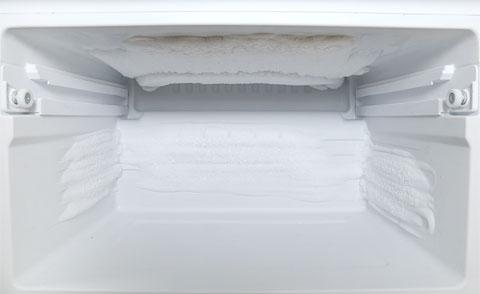 冷凍庫の霜 下の段