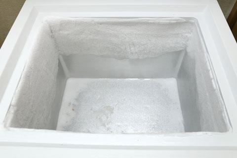 冷凍庫の霜 上の段
