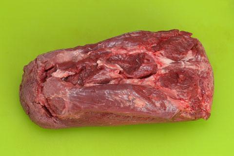 コストコの牛たんの切り分け方 筋をカット