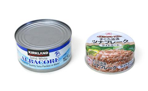 アルバコアツナ缶とマルハニチロ缶の比較