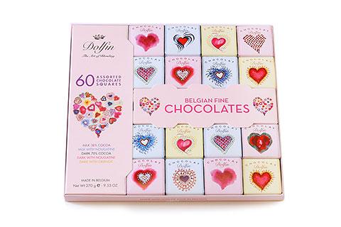 Dolfin アソーテッドチョコレートスクエアズ60