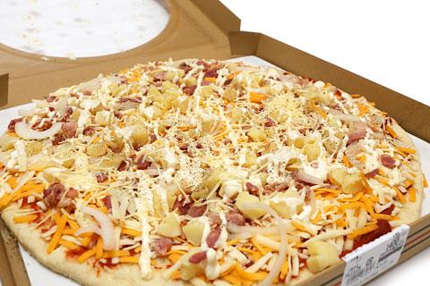 丸型ピザ ジャーマンポテト 蓋を開けた