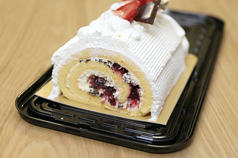 コストコのクリスマスケーキ 2014 カット断面