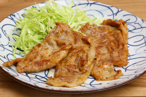 ダイショー 生姜焼きのたれで作った生姜焼き