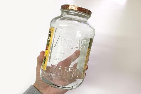 クラシコパスタソースの空き瓶 メイソンジャー