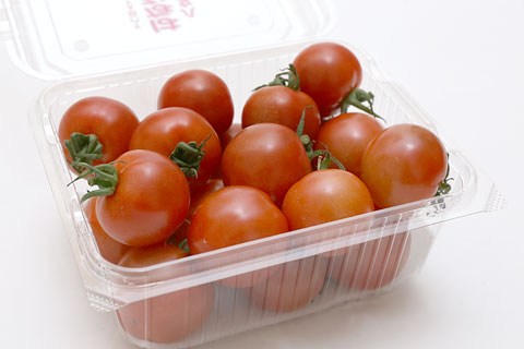 はなひめトマト 蓋を開けた