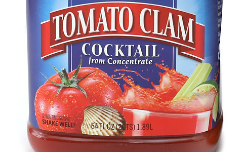 ランガーズ トマトクラムカクテル ラベルのアップ