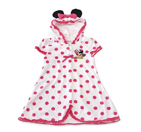 ディズニー 子供用水着セット(ミニー) タオル地のドレス