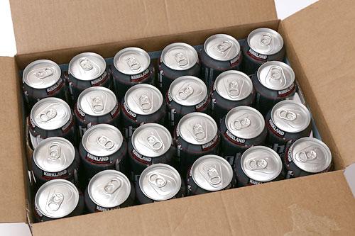 カークランドシグネチャー ライトビール 箱を開いた状態