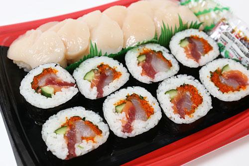 海鮮巻きと旬のにぎり寿司 開封