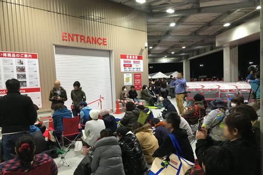 コストコ岐阜羽島倉庫店 オープン前入口付近
