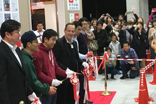 コストコ岐阜羽島倉庫店 オープン テープカット