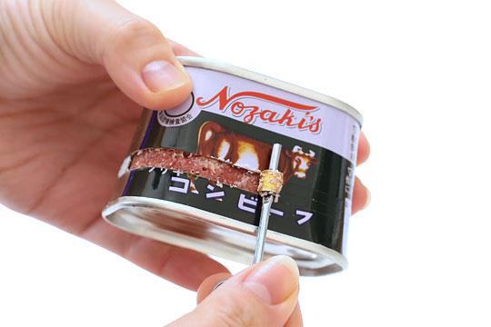 ノザキ コンビーフ 巻き取り鍵での開缶