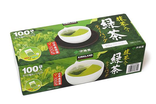 カークランドシグネチャー 抹茶入り緑茶ティーバッグ