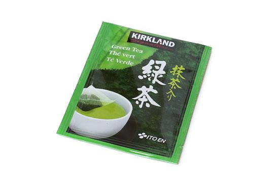 カークランドシグネチャー 抹茶入り緑茶ティーバッグ 1つ