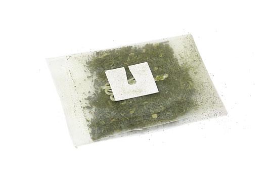 カークランドシグネチャー 抹茶入り緑茶ティーバッグ メッシュっぽい細かい網