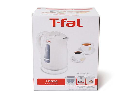 T-fal 電気ケトル タスホワイト1.5L 外箱