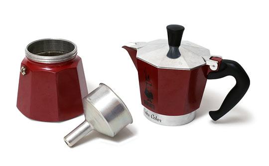 ビアレッティ モカコーヒーメーカー 3つのパーツ