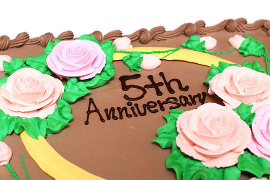 ハーフシートケーキ チョコレート 文字アップ