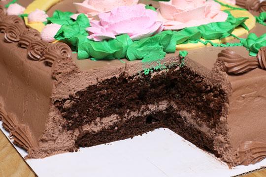 ハーフシートケーキ チョコレート スポンジ断面