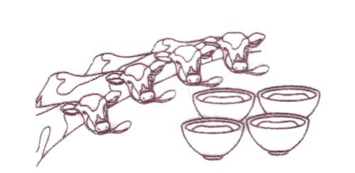 牧家 練葛杏仁(杏仁豆腐)パッケージの牛