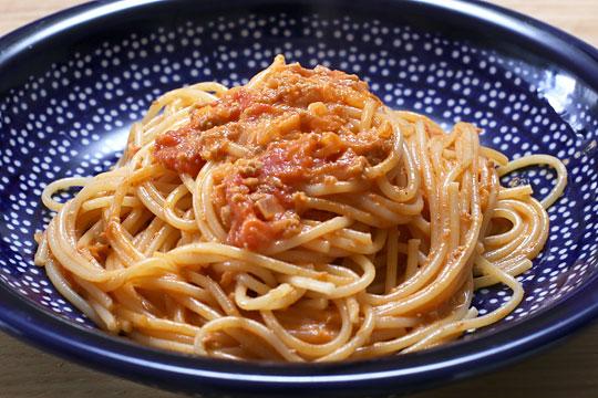 サンクゼール ツナとトマトのクリームソース 調理例