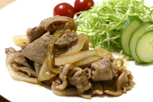 淡路島産 たまねぎ 豚の生姜焼き(調理例)