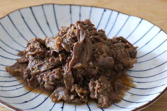 新しくなったプルコギビーフ(キウイ入り) 調理例(焼いただけ)