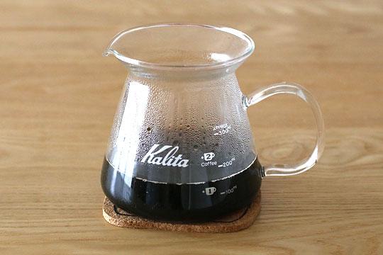 エシカルビーンコーヒー ラッシュ コーヒーを淹れた